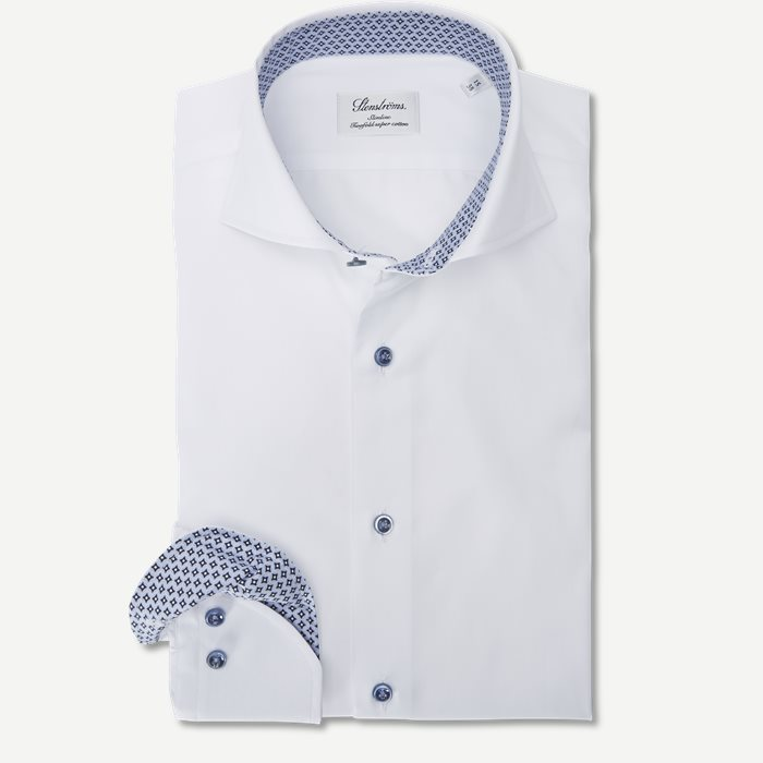 2194 Twofold Super Cotton Skjorte - Skjorter - Hvid