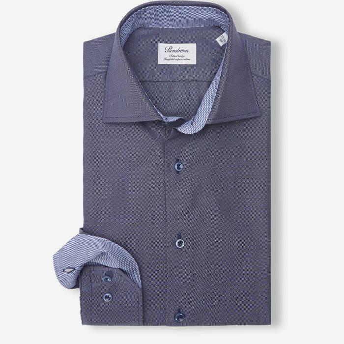 7732 Twofold Super Cotton Skjorte - Skjorter - Blå