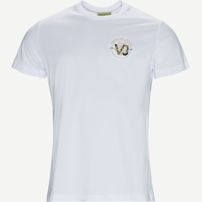 Pluto Print Jersey Tee - T-shirts - Slim - Hvid
