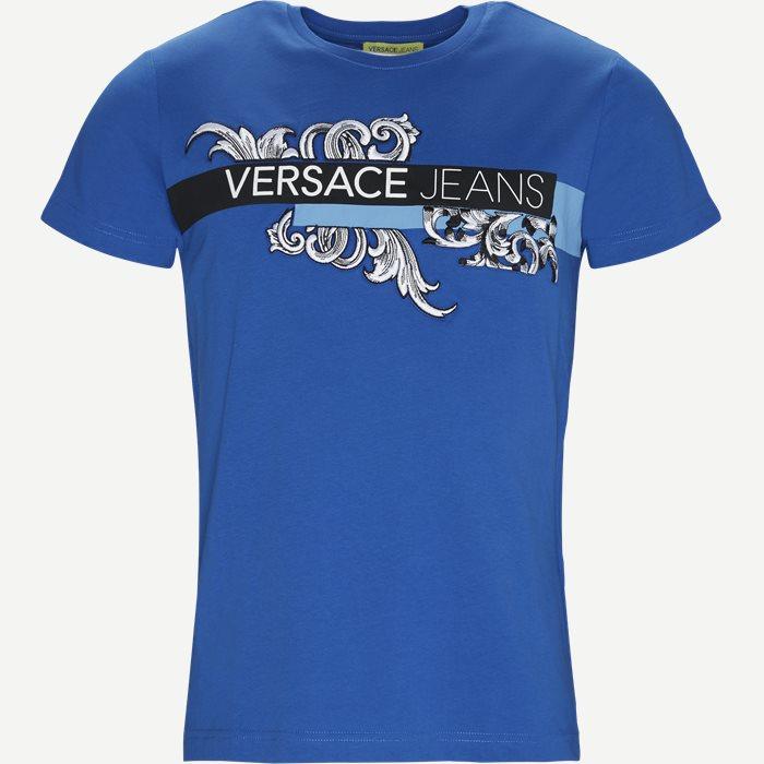 Poljr Print Jersey Tee - T-shirts - Regular - Blå