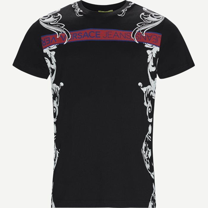 Sole Print Jersey Tee - T-shirts - Slim - Sort