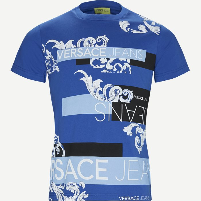 Poljr Print Jersey Tee - T-shirts - Slim - Blå