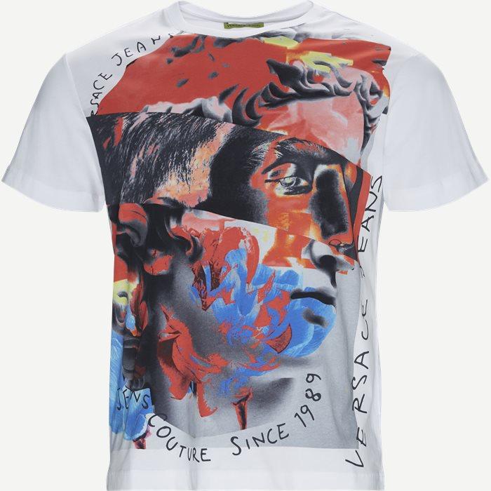 Mercury Print Jersey Tee - T-shirts - Regular - Hvid