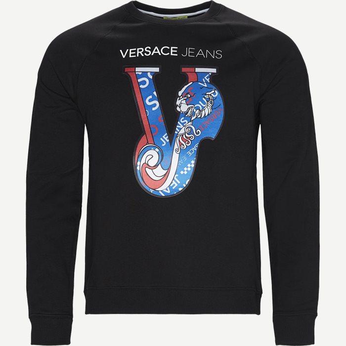 Felpa Print Sweatshirt - Sweatshirts - Regular - Sort