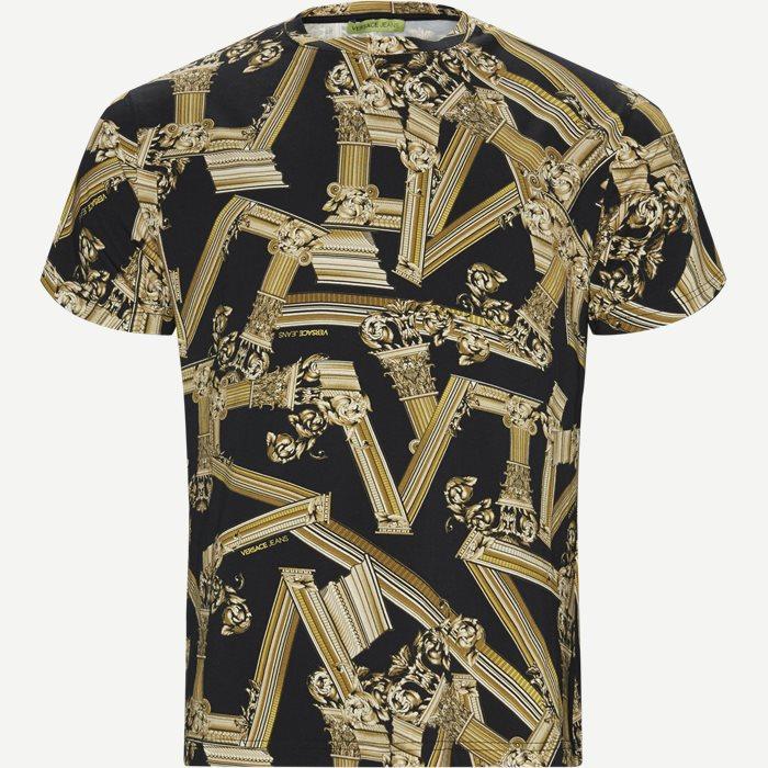 Print Fregi Antique T-shirt - T-shirts - Regular - Sort