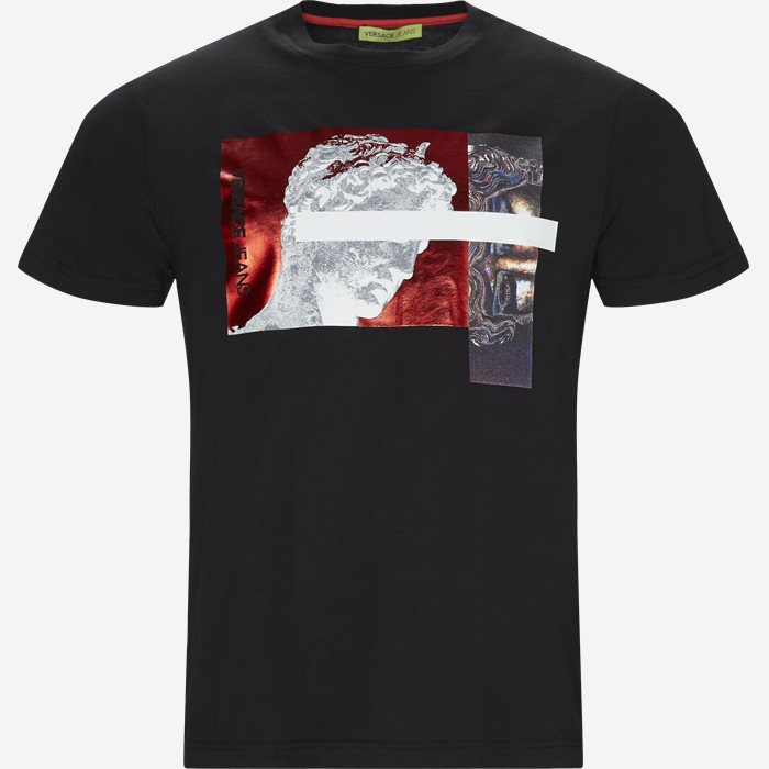 Jersey Cotton Mercury t-shirt - T-shirts - Slim - Sort