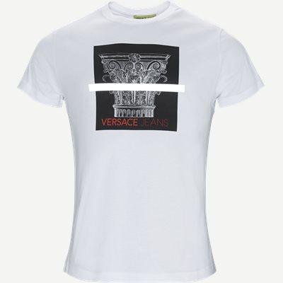 Poljr Print Jersey Tee Slim | Poljr Print Jersey Tee | Hvid