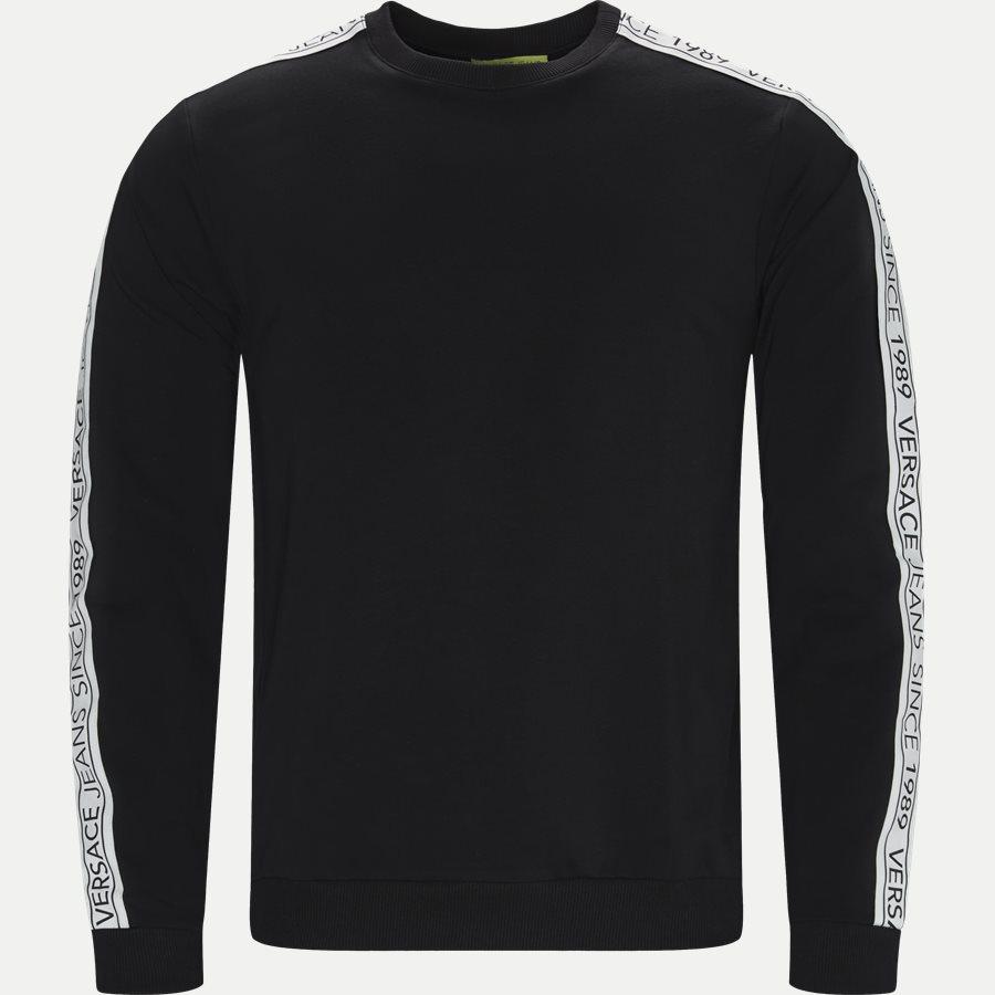 B7GTB7F9 13850 - Fleece Logo Tape Sweatshirt - Sweatshirts - Regular - SORT - 1
