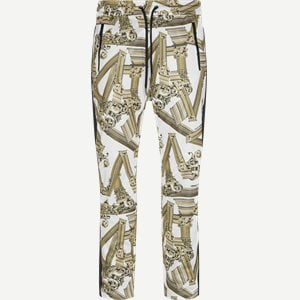 Tecnico Print Antique Fregi Sweatpants Regular | Tecnico Print Antique Fregi Sweatpants | Hvid