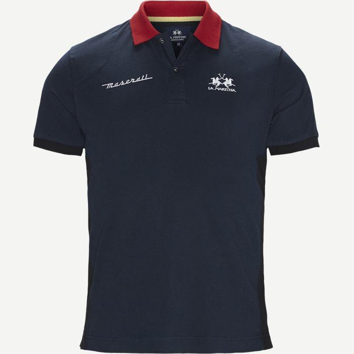 Jersey Polo T-shirt - T-shirts - Regular - Blå