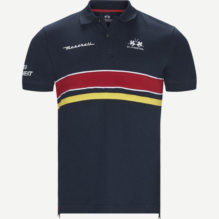 Maserati Pique Polo - T-shirts - Regular - Blå
