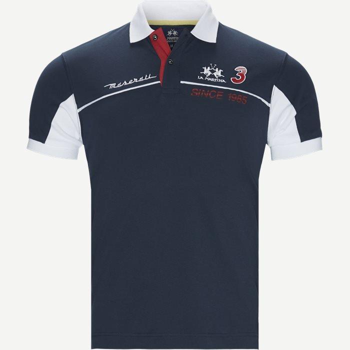 Maserati Piquet Polo - T-shirts - Slim - Blå