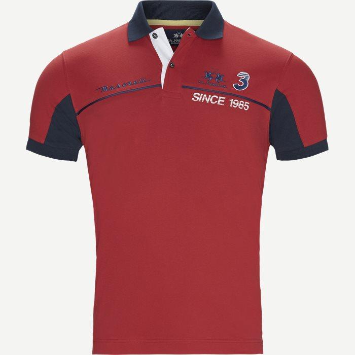Maserati Piquet Polo - T-shirts - Slim - Rød
