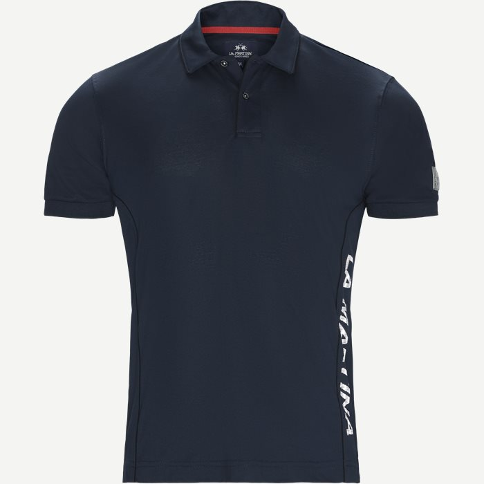 Merceriseret Pique Polo T-shirt - T-shirts - Regular - Blå