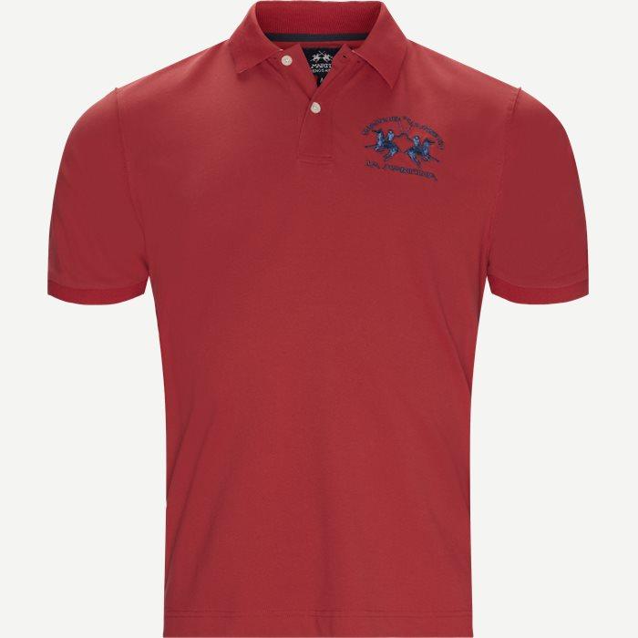 Pique Polo T-shirt - T-shirts - Regular - Rød
