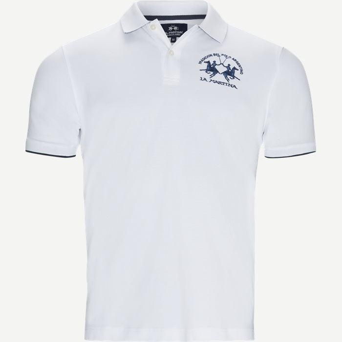 Pique Polo T-shirt - T-shirts - Regular - Hvid