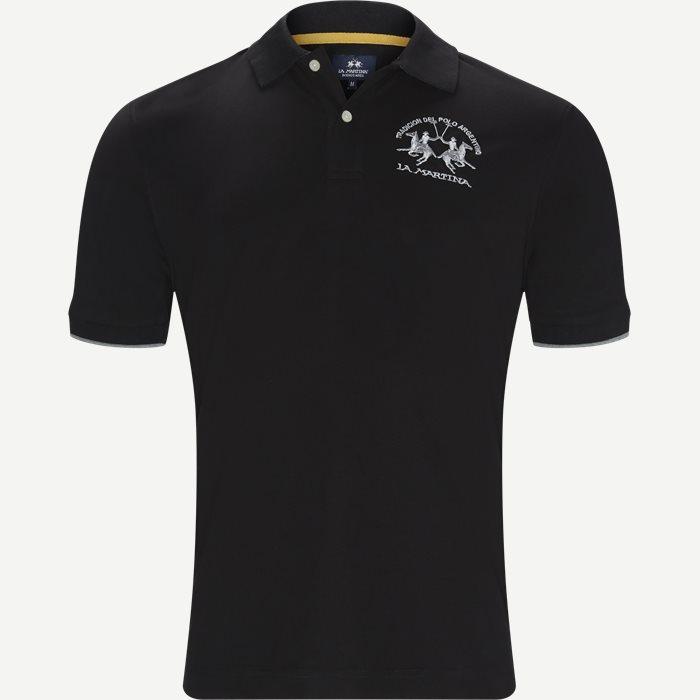 Pique Polo T-shirt - T-shirts - Regular - Sort