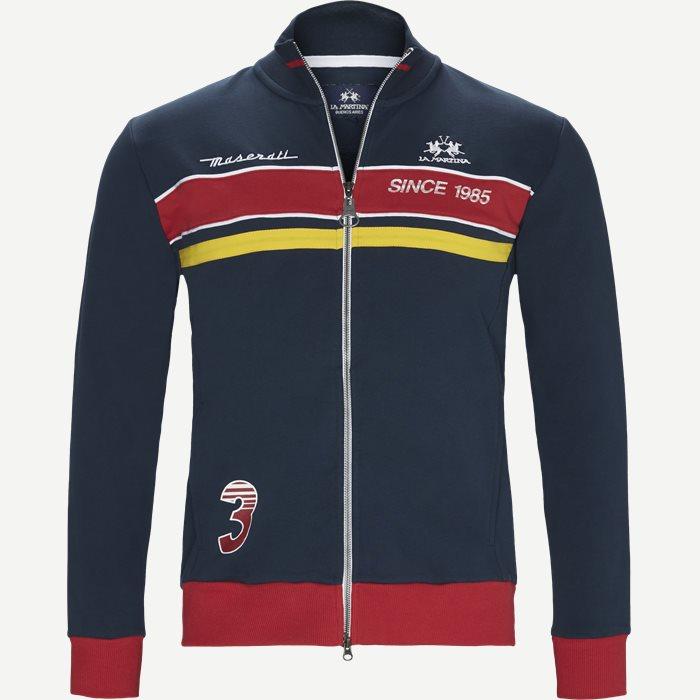 MS Full Zip French Terry Fleece Sweatshirt - Sweatshirts - Regular - Blå