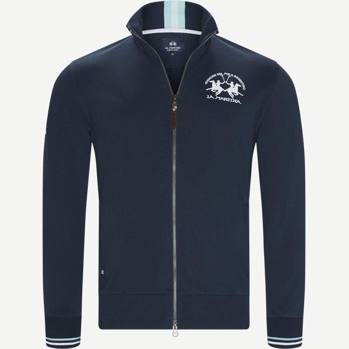 Man Fleece Full Zip Sweatshirt - Sweatshirts - Regular - Blå