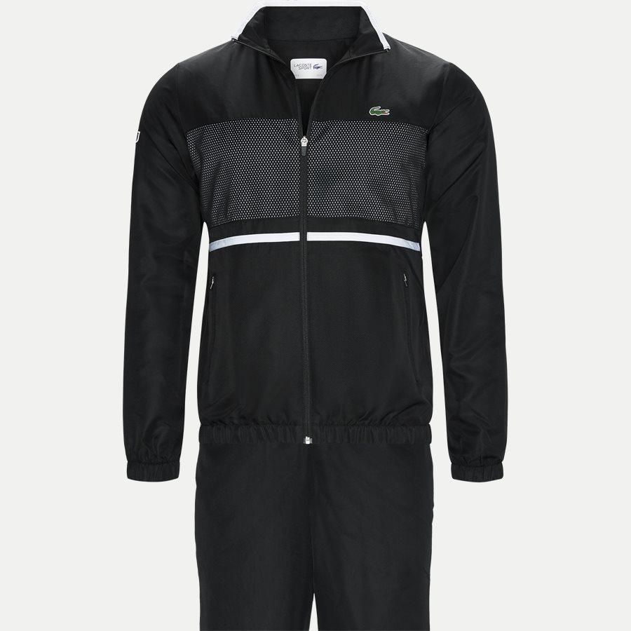 WH3573 - Contrast Bands And Mesh Panel Tennis Sweatsuit - Sweatshirts - Regular - SORT - 1