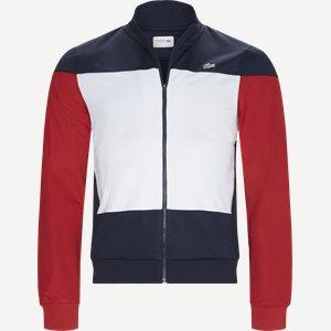 Sport Colourblock Technical Pique Zip Tennis Jacket Regular   Sport Colourblock Technical Pique Zip Tennis Jacket   Blå