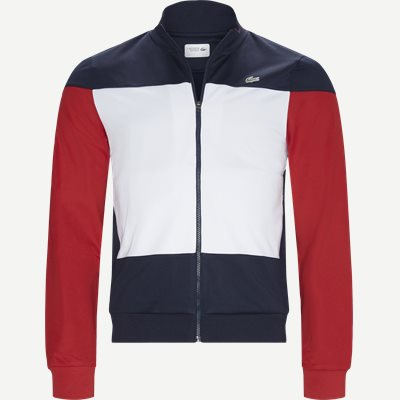 Sport Colourblock Technical Pique Zip Tennis Jacket Regular | Sport Colourblock Technical Pique Zip Tennis Jacket | Blå