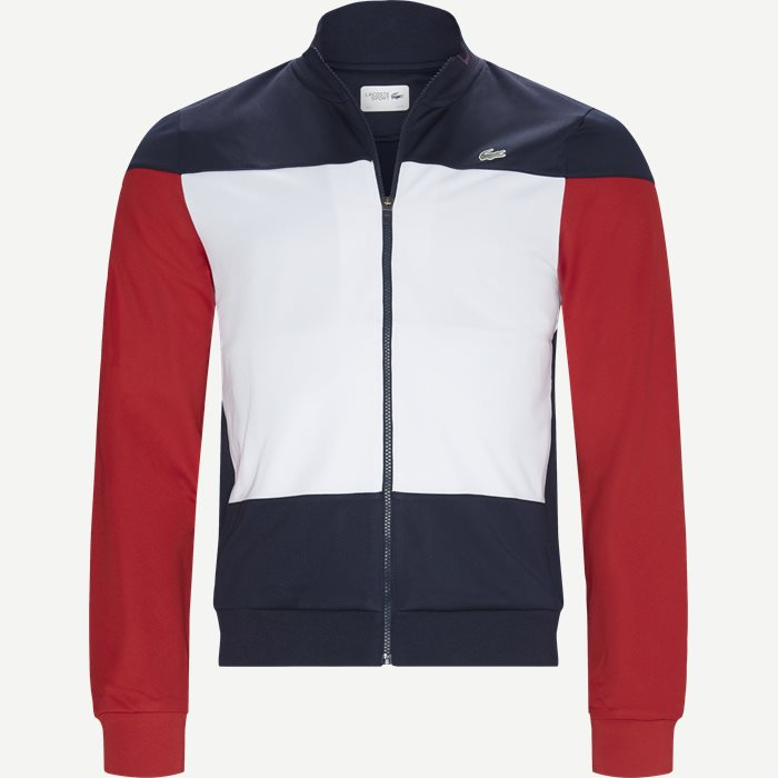 Sport Colourblock Technical Pique Zip Tennis Jacket - Sweatshirts - Regular - Blå