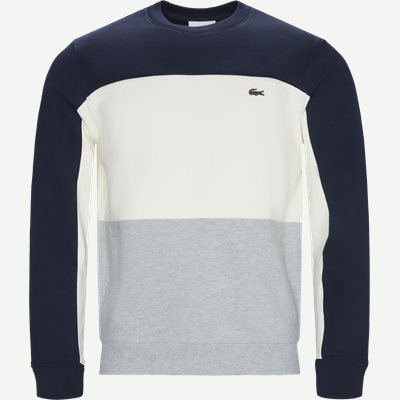 Crew Neck Colourblock Pique Fleece Sweatshirt Regular | Crew Neck Colourblock Pique Fleece Sweatshirt | Blå