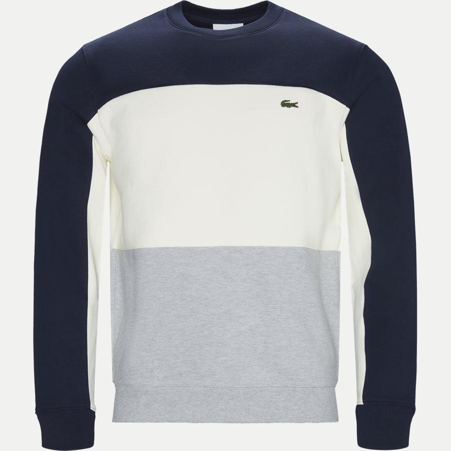 SH4371 - Crew Neck Colourblock Pique Fleece Sweatshirt - Sweatshirts - Regular - NAVY - 1