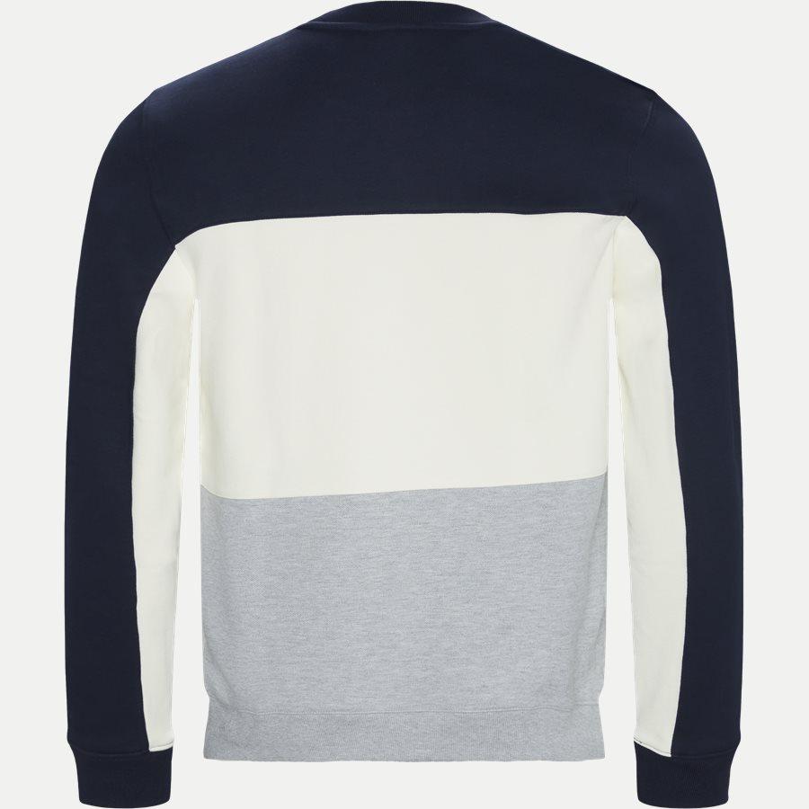 SH4371 - Crew Neck Colourblock Pique Fleece Sweatshirt - Sweatshirts - Regular - NAVY - 2