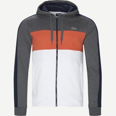Colorblock Fleece Zippered Sweatshirt Regular | Colorblock Fleece Zippered Sweatshirt | Grå