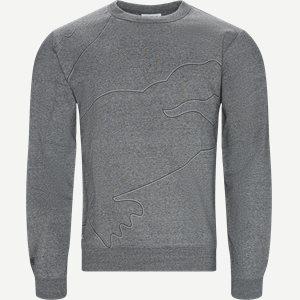 Sport Oversized Croc Brushed Fleece Sweatshirt Regular   Sport Oversized Croc Brushed Fleece Sweatshirt   Grå