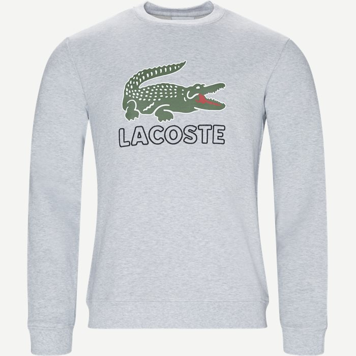 Sport Logo Sweatshirt - Sweatshirts - Regular - Grå