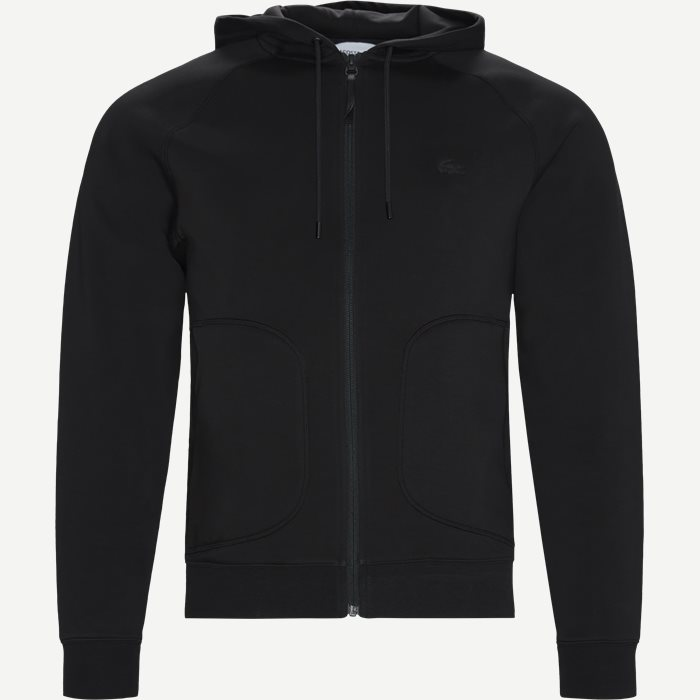 Motion Overstitched Technical Fleece Zip Sweatshirt - Sweatshirts - Regular - Sort