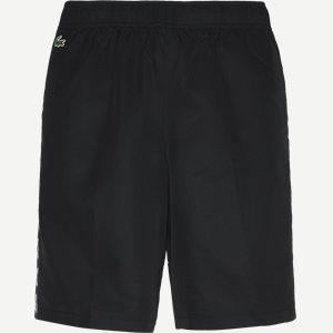 Sport Croc Print Band Lightweigt Tennis Shorts Regular   Sport Croc Print Band Lightweigt Tennis Shorts   Sort