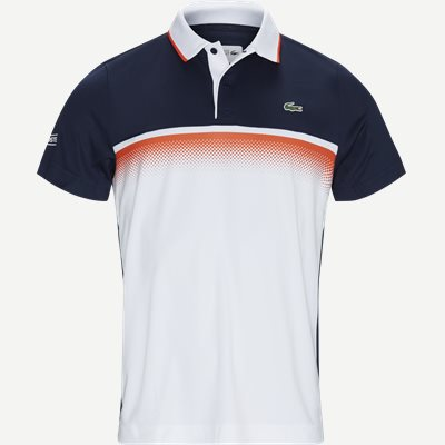 Shaded Colourblock Technical Piqué Tennis Polo Shirt Regular | Shaded Colourblock Technical Piqué Tennis Polo Shirt | Blå