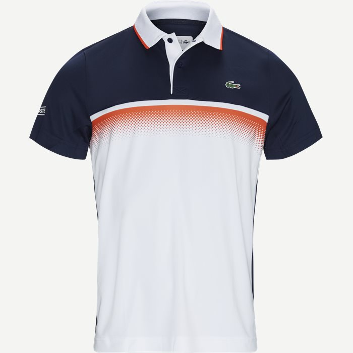 Shaded Colourblock Technical Piqué Tennis Polo Shirt - T-shirts - Regular - Blå