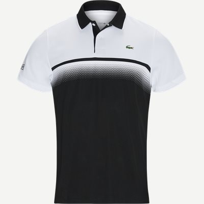 Shaded Colourblock Technical Piqué Tennis Polo Shirt Regular | Shaded Colourblock Technical Piqué Tennis Polo Shirt | Sort