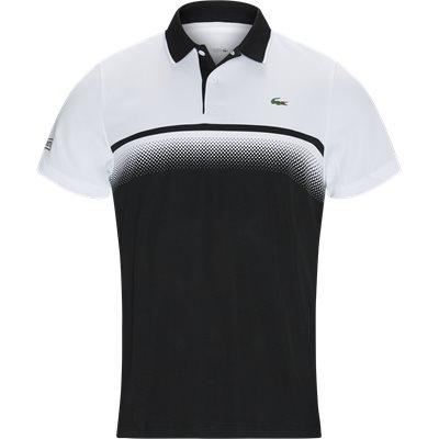 Shaded Colourblock Technical Piqué Tennis Polo Shirt Regular   Shaded Colourblock Technical Piqué Tennis Polo Shirt   Sort
