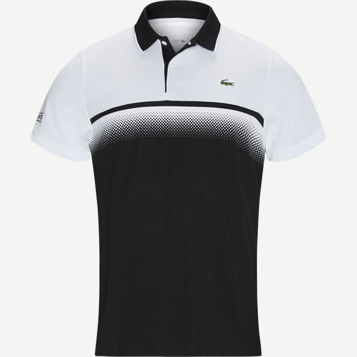 Shaded Colourblock Technical Piqué Tennis Polo Shirt - T-shirts - Regular - Sort
