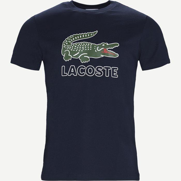 Oversize Crokodile Jersey T-shirt - T-shirts - Regular - Blå
