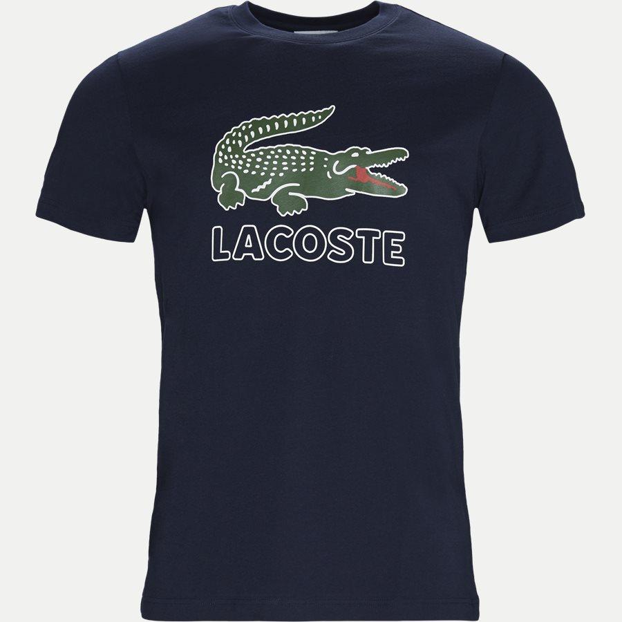 TH6386 - Oversize Crokodile Jersey T-shirt - T-shirts - Regular - NAVY - 1