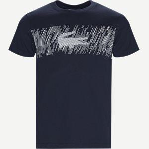 Croc Print Technical Jersey T-shirt Regular | Croc Print Technical Jersey T-shirt | Blå
