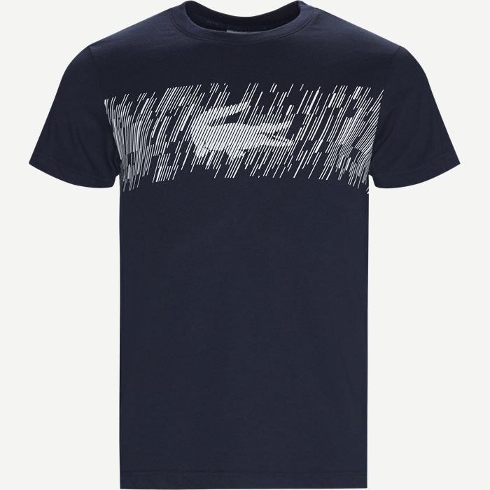 Croc Print Technical Jersey T-shirt - T-shirts - Regular - Blå