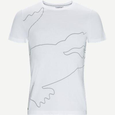 Sport Crew Neck Oversized Croc Print Tech Jersey T-shirt Regular | Sport Crew Neck Oversized Croc Print Tech Jersey T-shirt | Hvid
