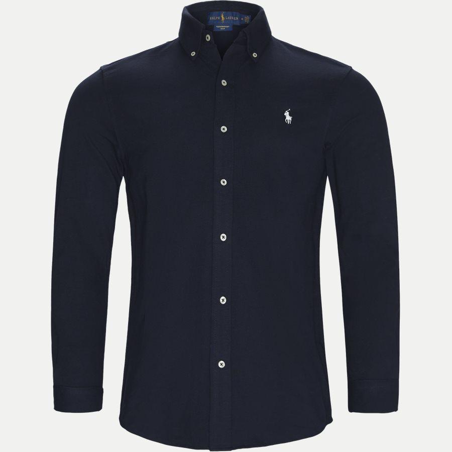 710654408 - Featherweight Mesh Shirt - Skjorter - Regular - NAVY - 1