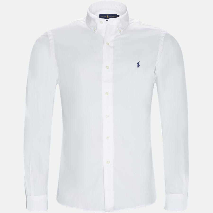 710705269 - Poplin Shirt - Skjorter - Slim - HVID - 1