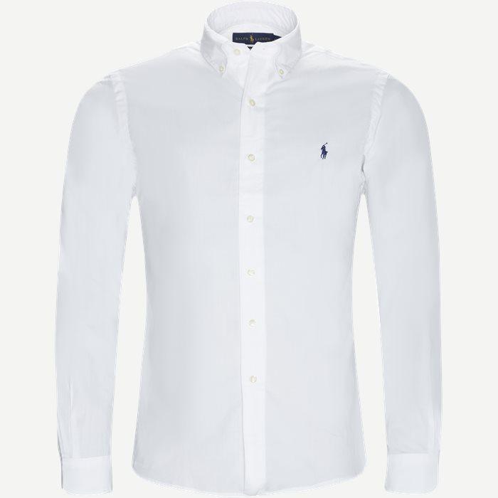 Poplin Shirt - Skjorter - Slim - Hvid