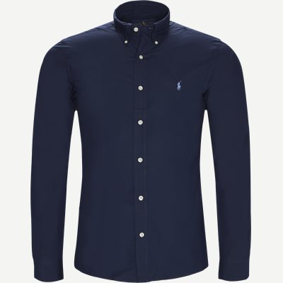 Poplin Shirt Slim | Poplin Shirt | Blå