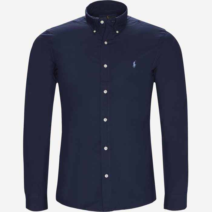 Poplin Shirt - Skjorter - Slim - Blå